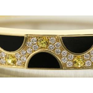 Bernard K. Passman Bracelet Skyscape Diamond Yellow Sapphire Black Coral 18k