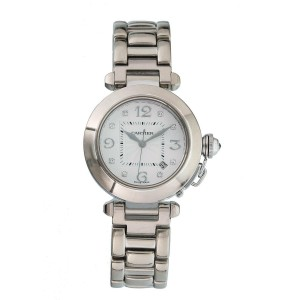 Cartier Pasha 2528 Diamond Dial 18k White Gold Ladies Watch