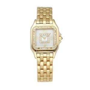 Cartier Panthere 18K Yellow Gold & Diamond dial Ladies Watch