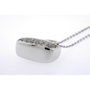 Mirabelle Pave Diamond Purse Bag Pendant Necklace 18k Yellow & White Gold .33ct