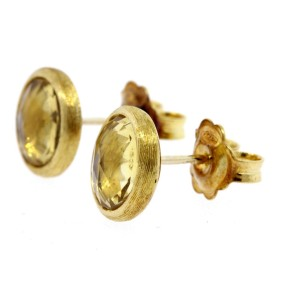 Marco Bicego Jaipur Citrine Earrings 18k Yellow Gold Studs