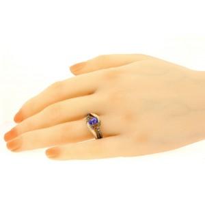 Levian Blueberry Tanzanite Diamond Ring Band Cushion 14k Rose Gold sz 7