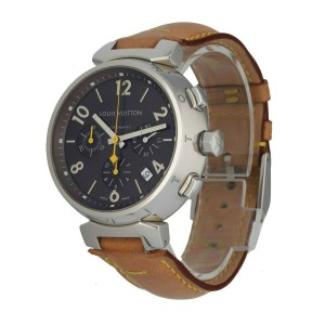 Louis Vuitton Q1121 Chronograph Stainless Steel Automatic Men's Watch