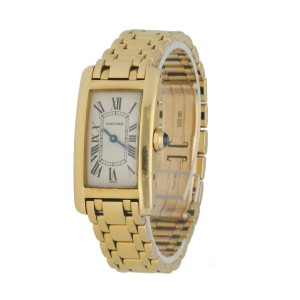 Cartier Tank Americaine 1710 18K Yellow Gold Ladies Watch