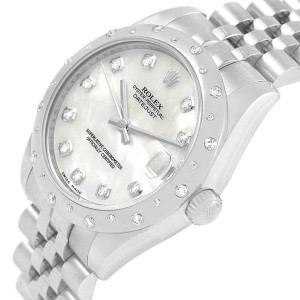 Rolex Datejust Midsize 31 Steel MOP Diamond Ladies Watch 178344