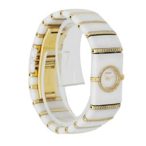 Rado 963.0428.3 Ceramic & 18K Yellow Gold W/Diamonds Ladies Watch