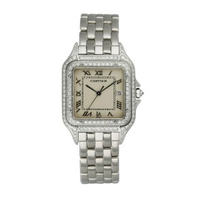 Cartier Panthere 1650/2 Diamond Dial 18K White Gold Watch