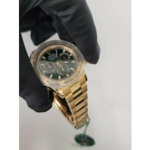 Rolex Daytona 116508 Green Dial 18K Yellow Gold  Men's Watch Box & Papers
