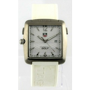 TAG HEUER PROFESSIONAL WAE1112.FT6008 GOLF WHITE RUBBER MENS SPORT WATCH