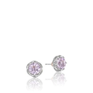 Tacori 18K Rose Gold & Rose Amethyst Studs Earrings