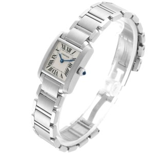 Cartier Tank Francaise Small Silver Dial Steel Ladies Watch W51008Q3