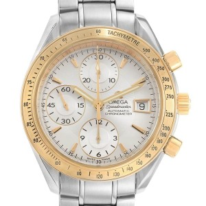 Omega Speedmaster Date 40mm Steel Yellow Gold Watch 323.21.40.40.02.001