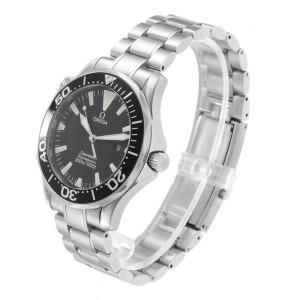 Omega Seamaster Black Dial Steel Mens Watch 2264.50.00 Card