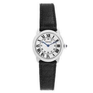 Cartier Ronde Solo Silver Dial Quarts Steel Ladies Watch W6700155