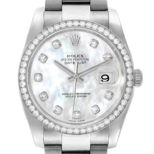 Rolex Datejust 36 Mother of Pearl Diamond Unisex Watch 116244