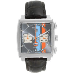 Tag Heuer Monaco Gulf Calibre 12 Chronograph Mens Watch CAW2113