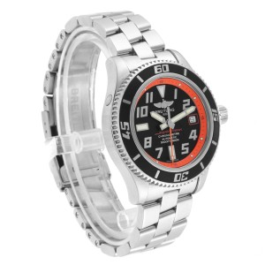 Breitling Superocean 42 Abyss Black Orange LE Mens Watch A17364 Box Papers