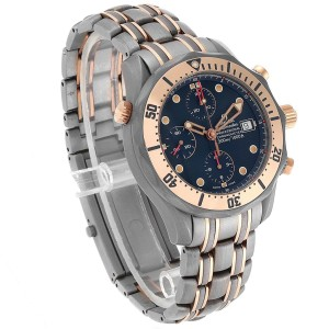 Omega Seamaster 41mm Titanium Rose Gold Mens Watch 2296.80.00 Box Card