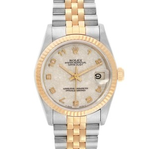 Rolex Datejust Midsize 31mm Steel Yellow Gold Dial Ladies Watch 68273