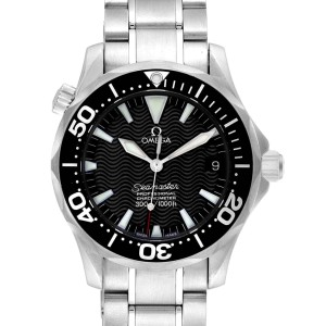 Omega Seamaster 36 Midsize Black Wave Dial Steel Mens Watch 2252.50.00