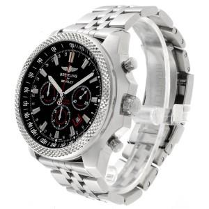 Breitling Bentley Barnato 49mm Black Red Dial Steel Mens Watch A25368