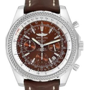 Breitling Bentley Watches >> Breitling Bentley Bronze Dial Chronograph Steel Mens Watch A25362