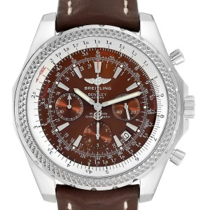 Breitling Bentley Bronze Dial Chronograph Steel Mens Watch A25362