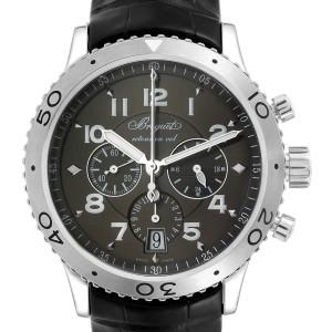 Breguet Transatlantique Type XXI Flyback Ruthenium Dial Watch 3810ST/92/9ZU