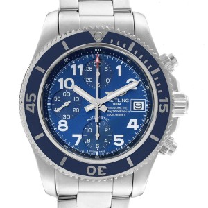 Breitling Superocean Chronograph 42 Blue Dial Mens Watch A13311