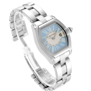 Cartier Roadster Blue and White Dial Steel Ladies Watch W62053V3