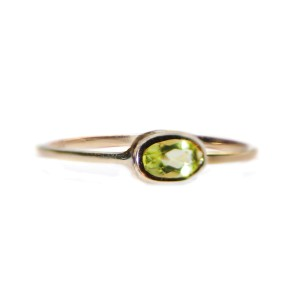 14k Gold Peridot Ring