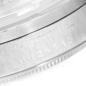 Rolex Date Silver Baton Dial Oyster Bracelet Steel Mens Watch 15210