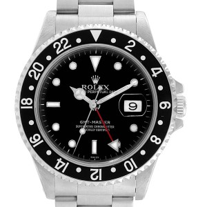 Rolex GMT Master Black Bezel Automatic Steel Mens Watch 16700