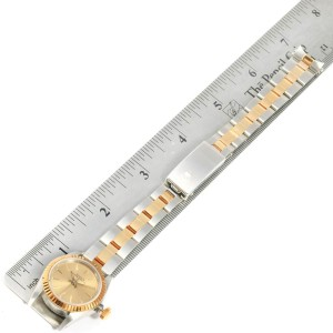 Rolex Oyster Perpetual NonDate Steel Yellow Gold Ladies Watch 67193