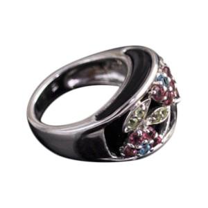 Multi-Gemstone Sterling Silver Ring
