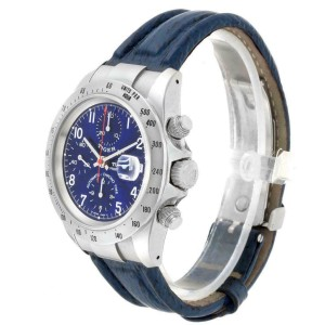 Tudor Tiger Woods Chronograph Blue Dial Steel Mens Watch 79280P