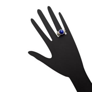 Lagos Lapis Sterling Silver & 18K Gold Caviar Ring