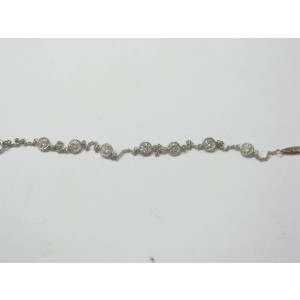 Tiffany & Co. Elsa Peretti Platinum Diamond By The Bracelet