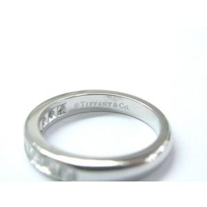 Tiffany & Co. Platinum Channel-Set Half Circle Diamond Ring