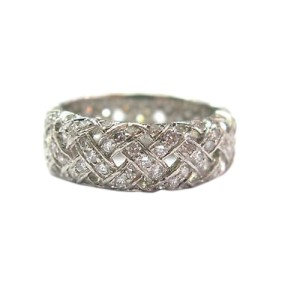 Tiffany & Co. PT950 Platinum with 2.80ct Diamond Band Ring Size 6.5