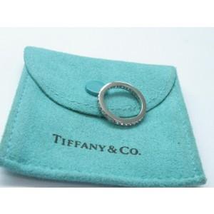 Tiffany & Co. PLAT Legacy Diamond Sapphire Platinum Ring Size 4