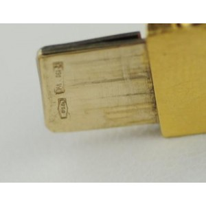 Manfredi Carved Pink Tourmaline Diamond 18k Yellow gold Linked Bangle Bracelet