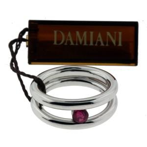 Damiani 18K White Gold & Ruby Ring