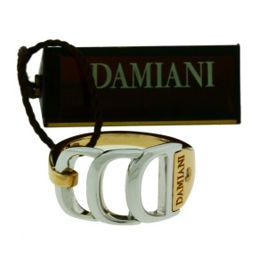 Damiani Damianissima 18K Pink and White Gold with Diamond Ring Size 7.25
