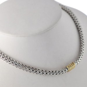 Vintage John Hardy Sterling Silver Braided Chain Necklace