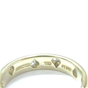Tiffany & Co. Etoile 18K Yellow Gold with 0.22ct Diamond Ring Size 5.5