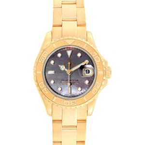 Rolex Yachtmaster 29 Yellow Gold MOP Dial Ladies Watch 169628