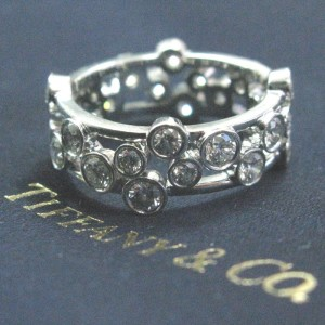 Tiffany & Co. Pt950 Platinum with 1.20ct Diamonds Bubbles Ring Size 4
