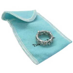 Tiffany & Co. PT950 Platinum with 1.20ct Diamond Bubbles Ring Size 4.5