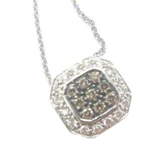 Levian Multi Color Diamond Square Pendant Necklace